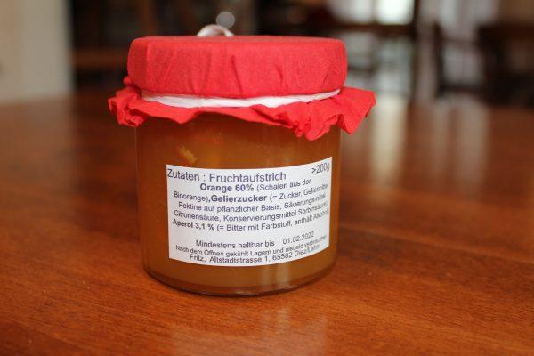 Orange Aperol Marmelade Zutaten