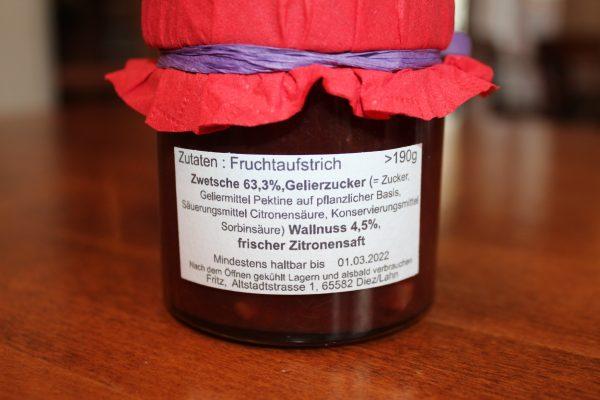 Zwetschge Marmelade Zutaten