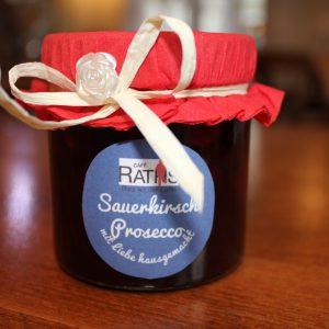 Sauerkirsch Prosecco Marmelade