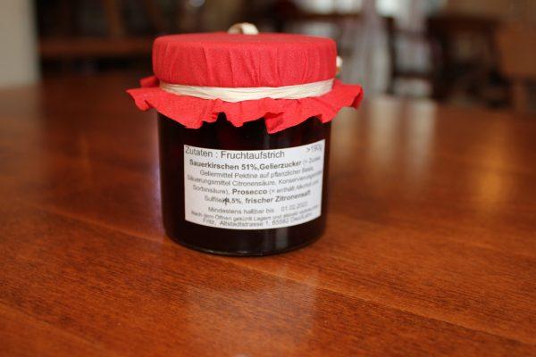 Sauerkirsch Prosecco Marmelade Zutaten