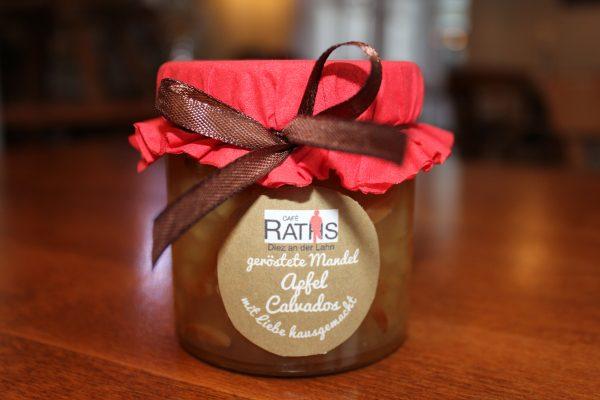 Geröstete Mandel Apfel Calvados Marmelade Café Raths