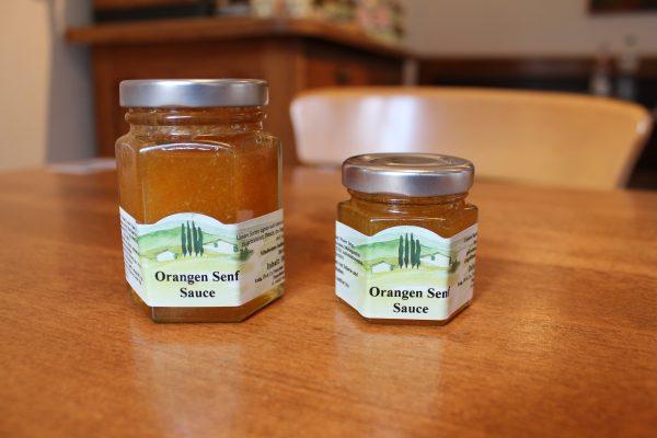 Orangen Senf Sauce 40ml und 80ml